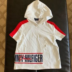 NWT Tommy Hilfiger Denim Sweatshirt Hoodie Red XS